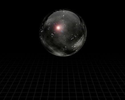 Crystal Sphere Concept. 3D rendering