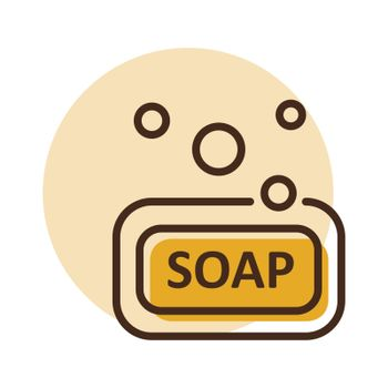 Soap vector icon. Hygiene sign. Graph symbol for medical and household chemicals web site and apps design, logo, app, UI