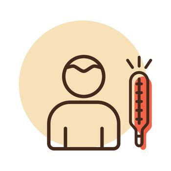 Fever High temperature vector icon. Covid sign. Graph symbol for medical web site and apps design, logo, app, UI