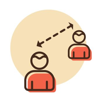 Social distancing icon vector. Quarantine measures sign. Coronavirus. Graph symbol for medical web site and apps design, logo, app, UI