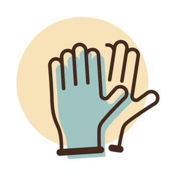 Medical protective rubber gloves vector icon. Coronavirus. Graph symbol for medical web site and apps design, logo, app, UI