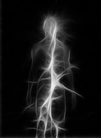 Soul or aura. Abstract figure design. 3D rendering