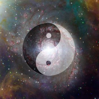 Yin Yang Celestial. 3D rendering