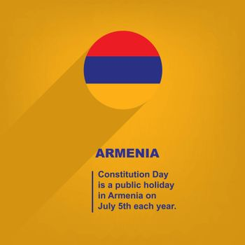 National Holiday in Armenia - Constitution Day. Poster for event