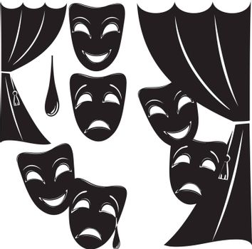 Set of theater symbols for layout and creativity