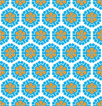 modern background textile pattern with hexagonal winter pattern