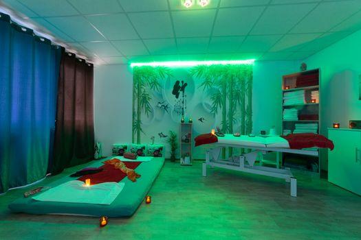 The establishment in a spa and massage parlor