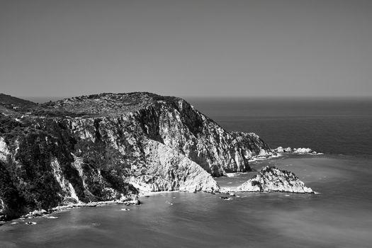 Rocky coast at Petani Bay on the island of Kefalonia