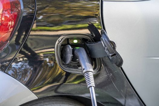 terni,italy november 06 2020:charging system for electric car