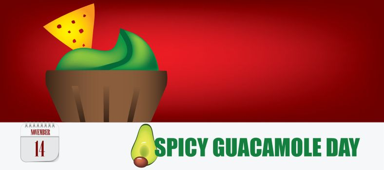 Post card for event november day Spicy Guacamole Day