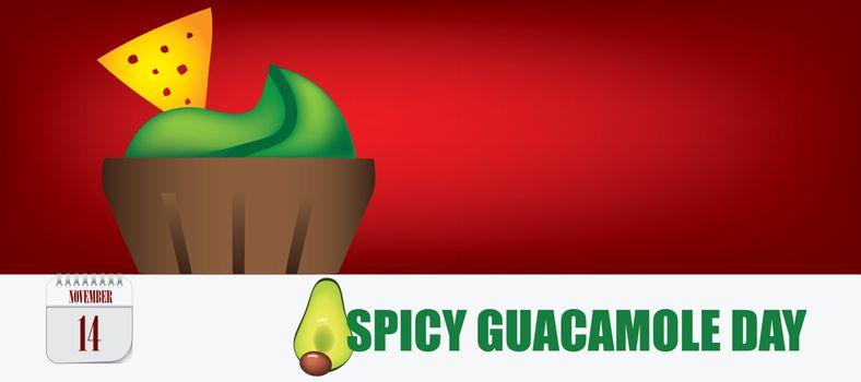 Postcard Spicy Guacamole Day