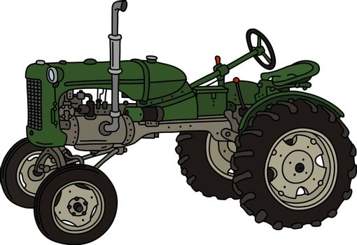The old green tractor