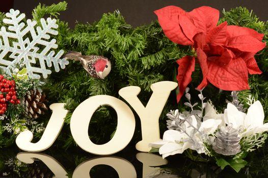 A festive holiday scene with a joyful expression.