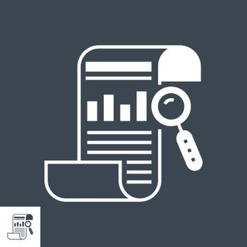 SEO Report Related Vector Glyph Icon. Isolated on Black Background. Vector Illustration.