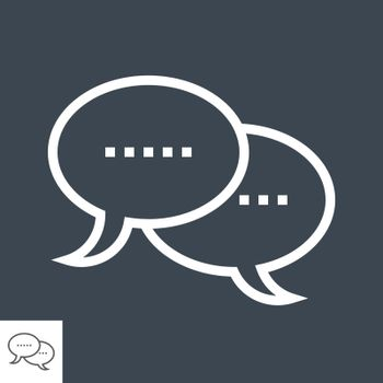 Speech Bubble Thin Line Vector Icon. Flat icon isolated on the black background. Editable EPS file. Vector illustration.