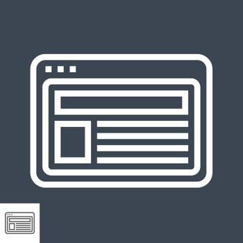 Site Thin Line Vector Icon. Flat icon isolated on the black background. Editable EPS file. Vector illustration.