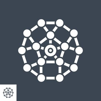 Network Related Vector Glyph Icon. Isolated on Black Background. Vector Illustration.