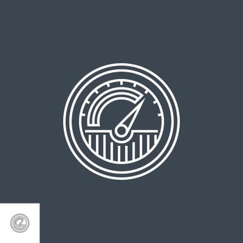 Traffic Related Vector Thin Line Icon. Isolated on Black Background. Editable Stroke. Vector Illustration.