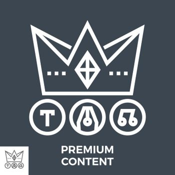 Premium Content Thin Line Vector Icon Isolated on the Black Background.