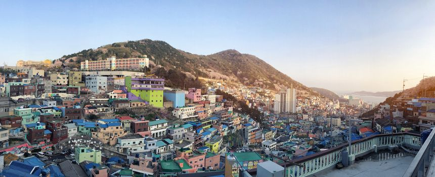 View of Gamcheon Culture Village, Busan, South Korea.