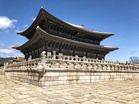 Gyeongbokgung palace one of the most famous  landmark of Seoul, Korea