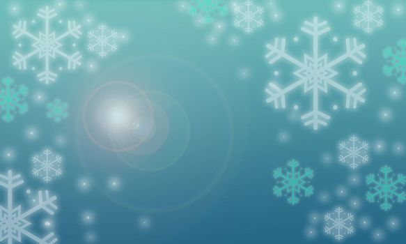 Multiple color Christmas Background and White and green Snowflakes. Christmas day concept.