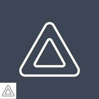 Triangle Thin Line Vector Icon. Flat icon isolated on the black background. Editable EPS file. Vector illustration.