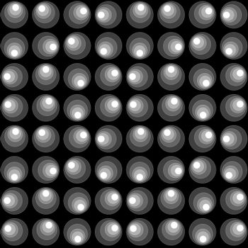 Abstract geometrical pattern with circles over black background
