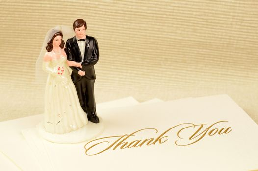 A stack of thank you cards to be given from the newly wedded couple to those who helped make it all possible.