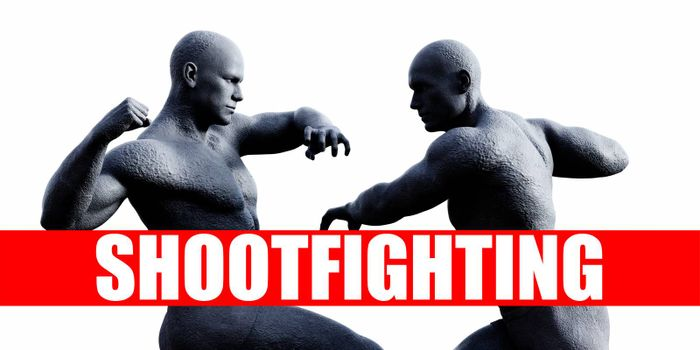Shootfighting Class Combat Fighting Sports Background
