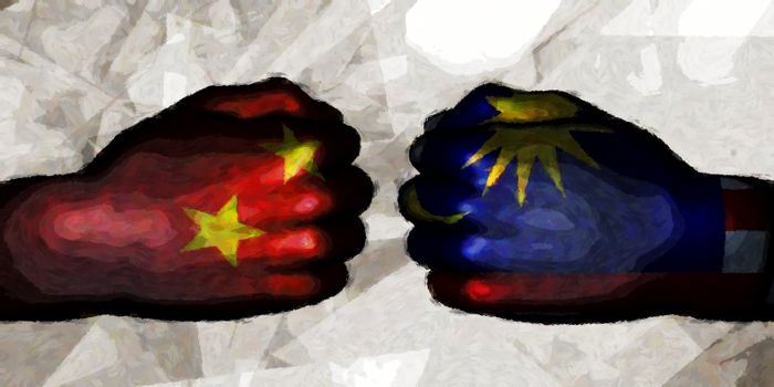 China vs Malaysia Political Conflict and Disputes Concept