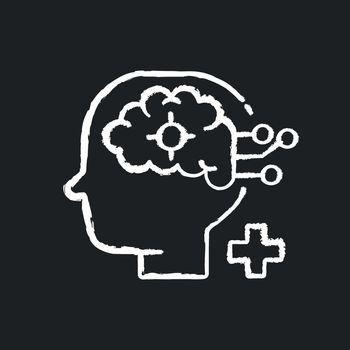 Neurological department chalk white icon on black background