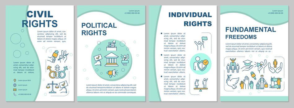 Civil rights brochure template