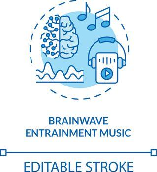 Brainwave entertainment music concept icons