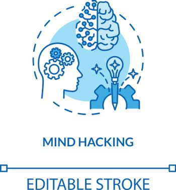 Mind hacking concept icon
