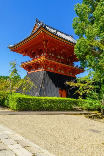 View of the Syoro of the Ninna-ji Temple, in Kyoto, Japan