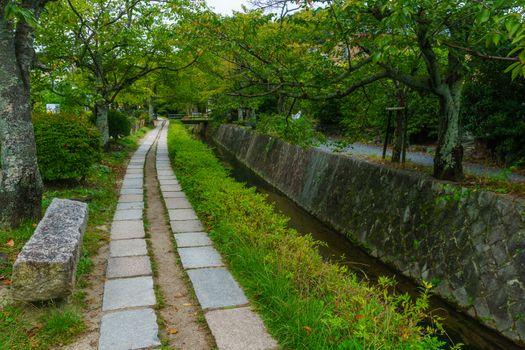View of the Philosophers Path (Tetsugaku no michi), in Kyoto, Japan