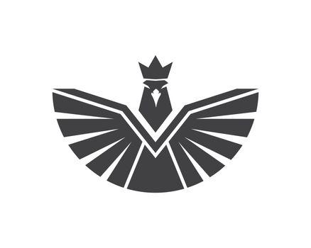 falcon,eagle logo icon vector illustration design template