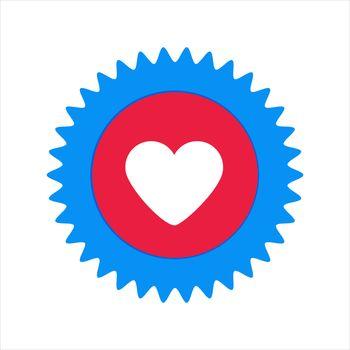 Facebook heart logo. Facebook icon, social media icon. Facebook chat comment reactions . Kharkiv, Ukraine - June, 2020