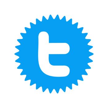 Twitter logo on white background. Twitter is a social networking and microblogging service . Kharkiv, Ukraine - June, 2020