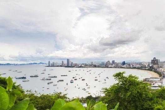Pattaya city bird eye view point.