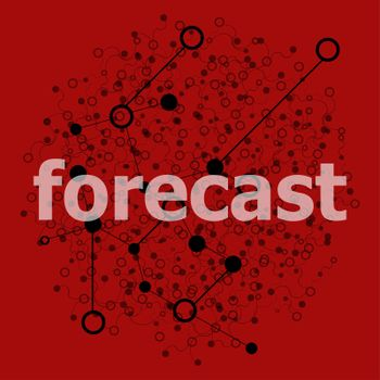 Text Forecast. Business concept . Abstract geometric background with lines, circles and dots