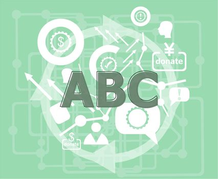 Text ABC. Business concept . Infographic template. Flat design web graphics elements.