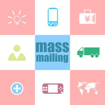 Text mass mailing. Management concept . Infographic dashboard ui interface template
