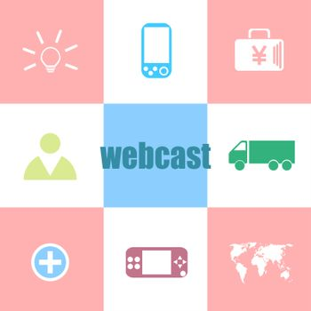 Text webcast. Business concept . Can be used for workflow layout, diagram, business step options, banner