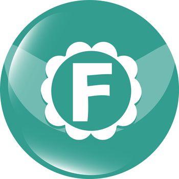 Letter F logo icon design template elements. Web icon color sign