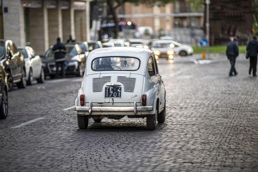 terni,italy november 17 2020:historic vintage italian car fiat 600