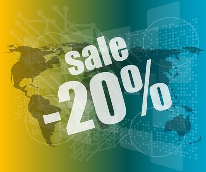 sale percentage on business digital touch screen