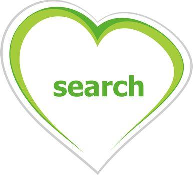 Text Search. SEO web development concept