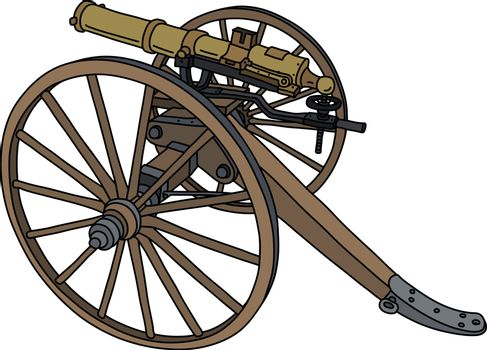 The vintage american machine gun